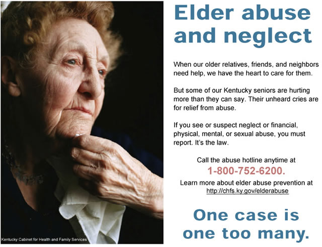 Kentucky Elder Abuse Awareness Poster